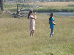 Izzie and Marya, Yellowstone Park