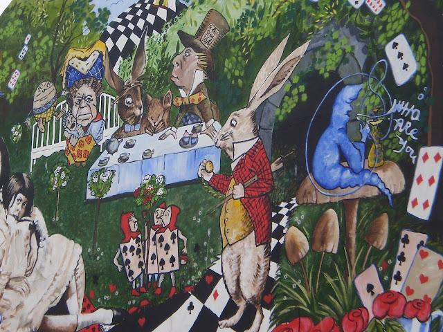 alice in wonderland wall painting brighton
