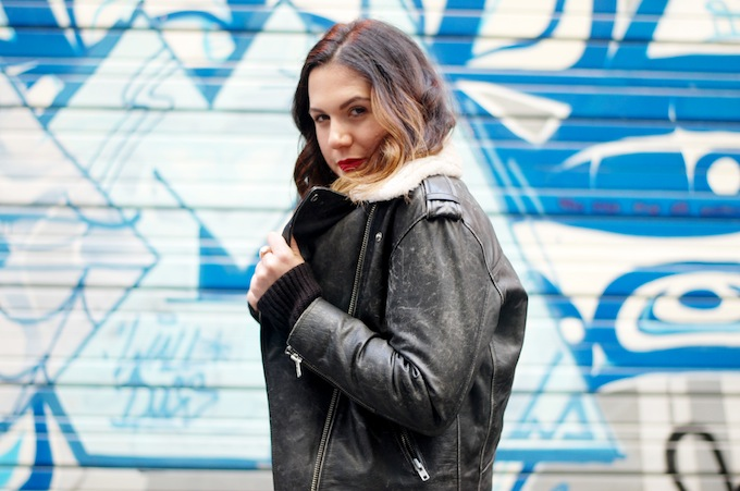 Isabel Marant Benny leather jacket outfit blogger