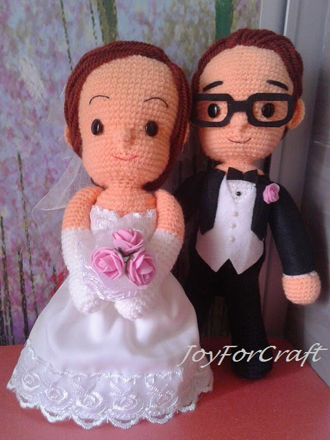 crochet amigurumi wedding doll couple gift car deco cute lovely