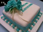 BLUE n TORQUISE FONDANT CAKE