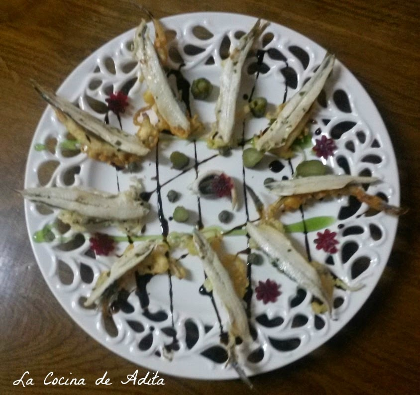Snacks boquerones en vinagre con espina en tempura la - Calorias boquerones en vinagre ...
