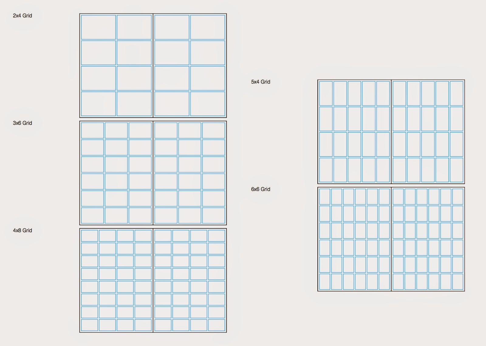 grid layout for graphic design studio practice study task