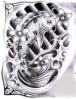 dise os de pez koi para tatuar
