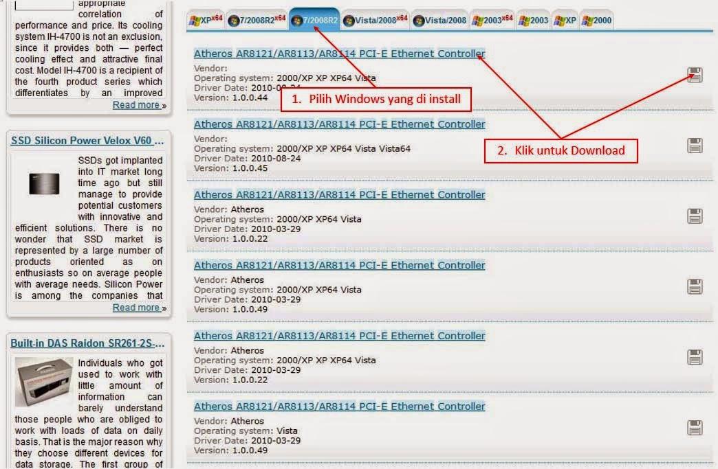 Cara Mencari dan Mendownload Driver PC atau Laptop