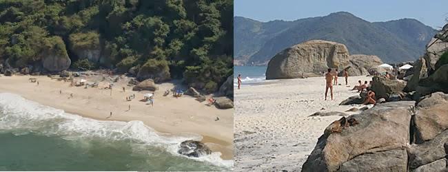 Abricó, nossa praia de nudismo. Tem apenas 270 metros de extensão.