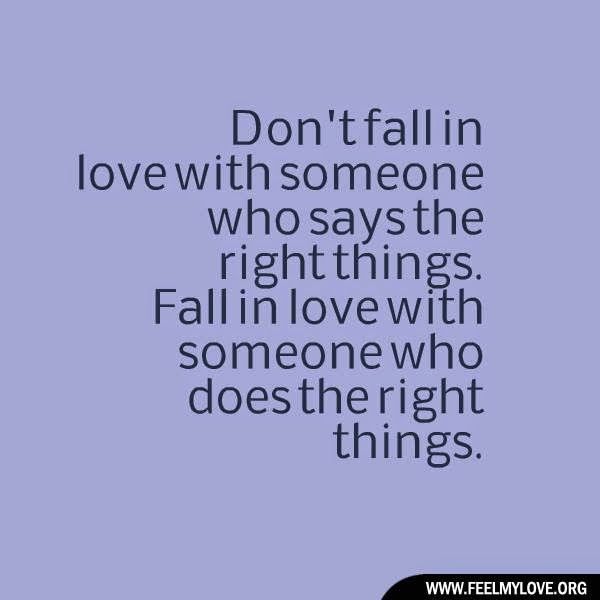 Dont Fall In Love Quote
