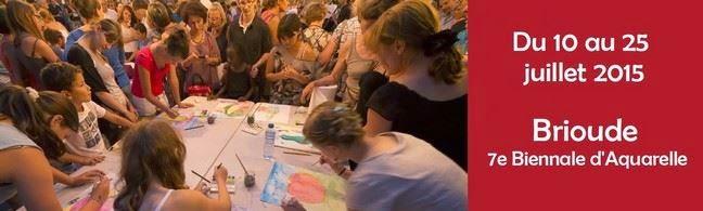 Rendez-vous à la biennale d'aquarelle de Brioude cet été !
