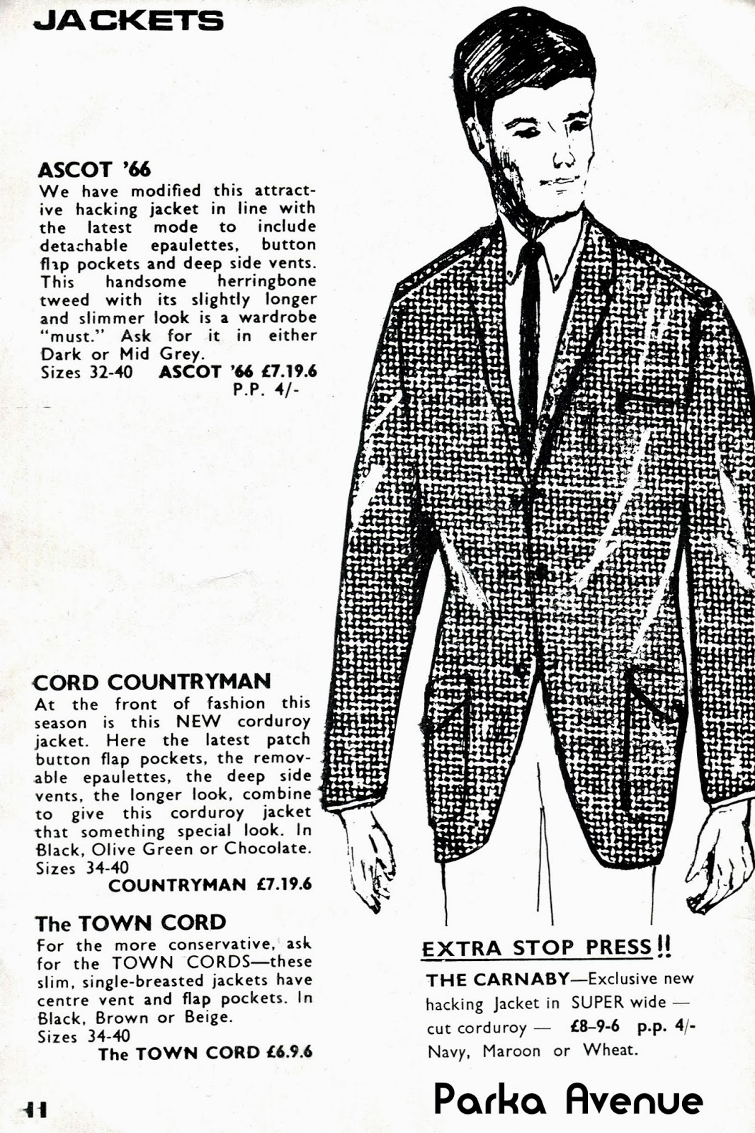 5a13704a8543 Scan for the 60s Carnaby Street shop The Modern Man catalog. A tweed jacket  with detachable epaulettes  That might be too much