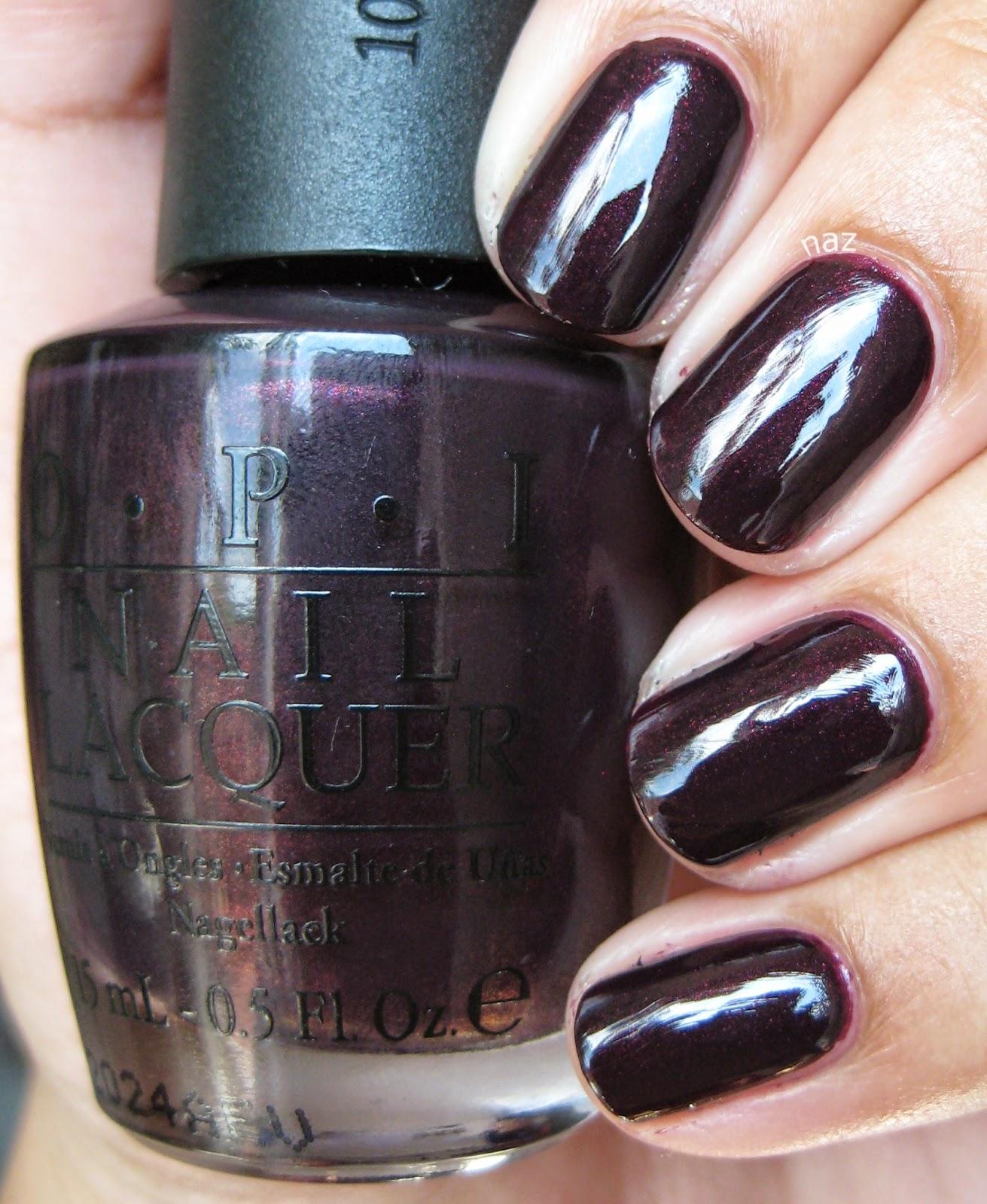 Naz\'s Nails: OPI Black Cherry Chutney