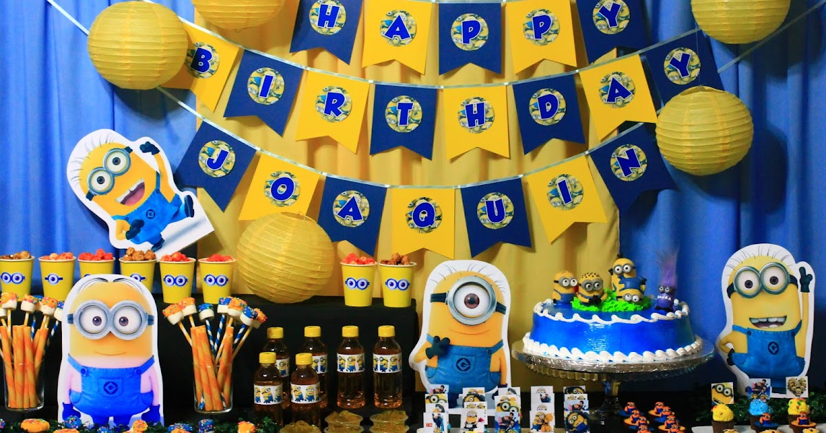 Kids Party Hub Despicable Me Minions Themed Party