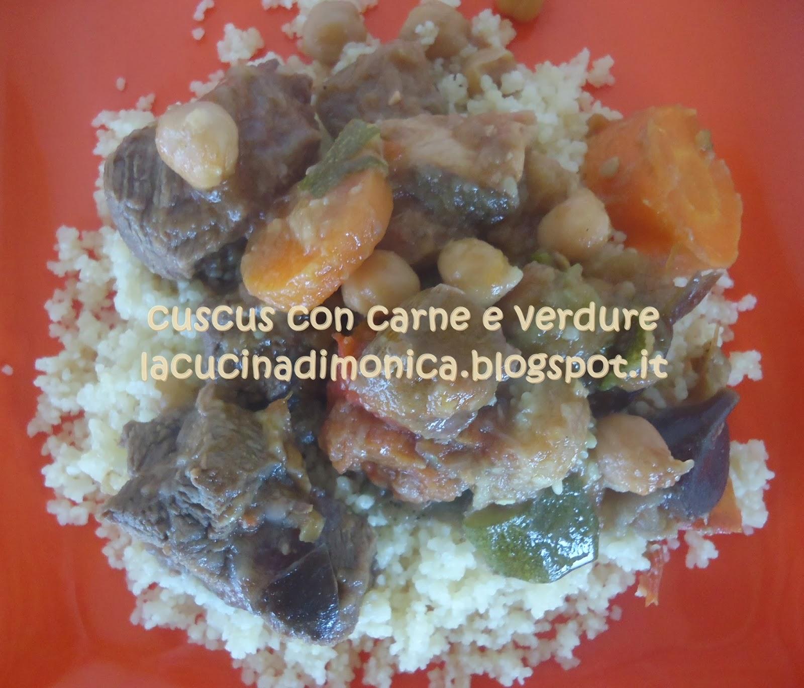 cuscus di carne e verdure