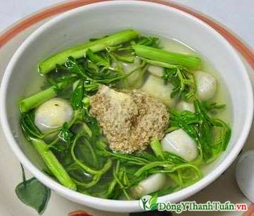 Món ăn từ rau nhút - Cách làm mát gan