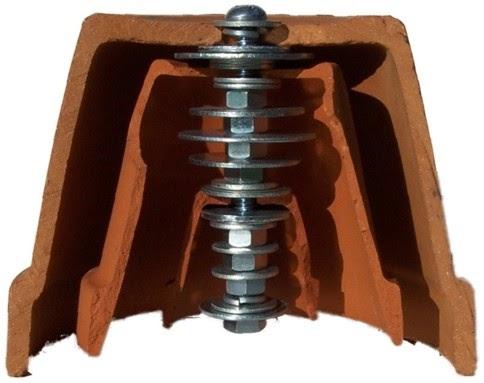 estructura central de perno, tuercas y arandelas