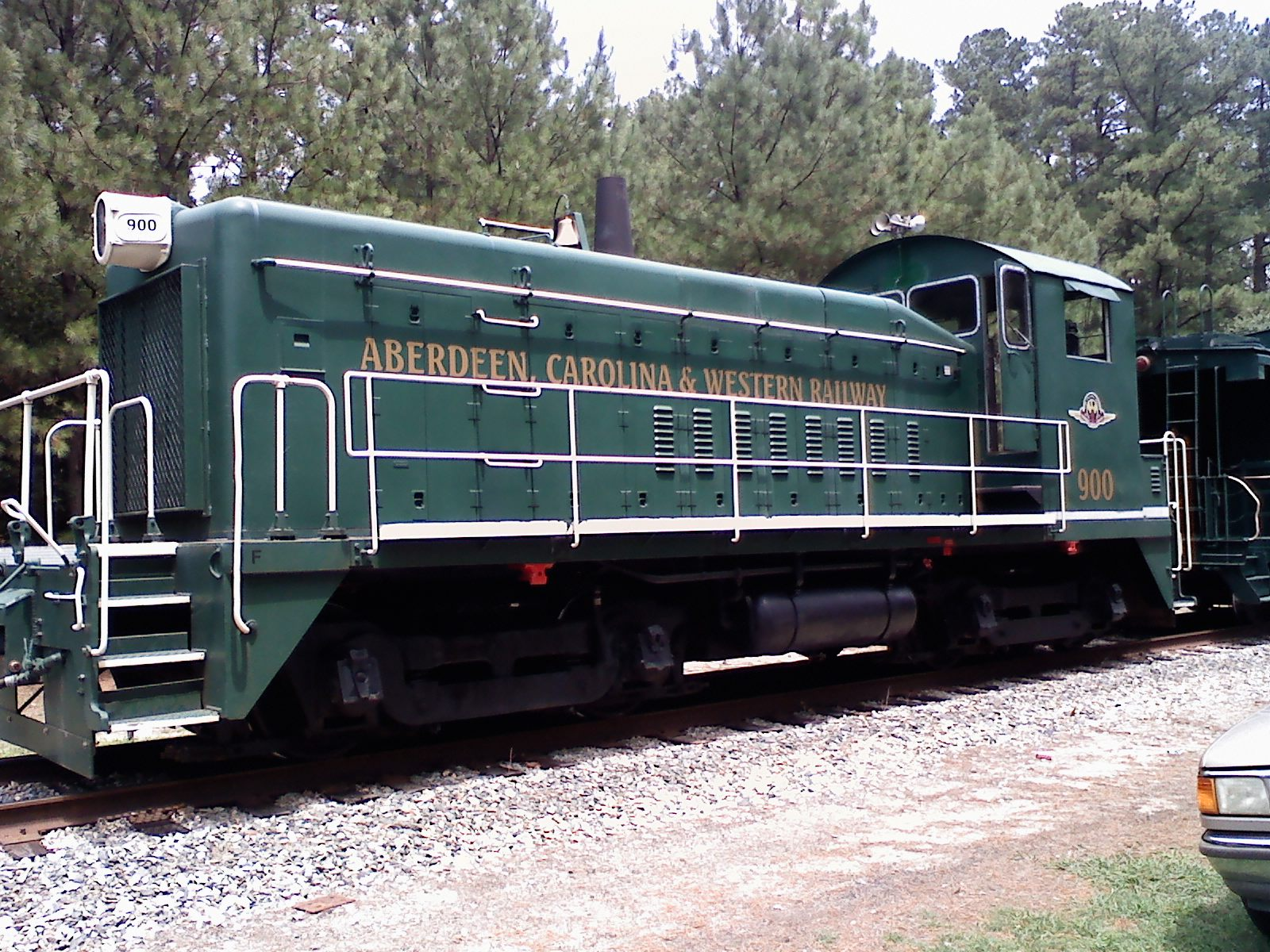 old green train locomotive