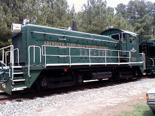 old green train locomotive