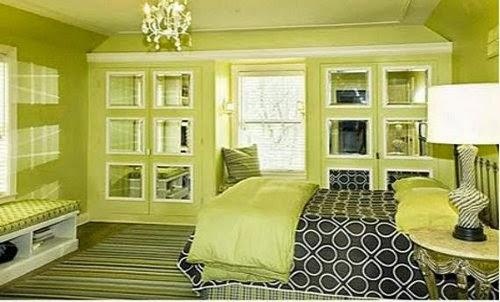 amazing luxurious green bedroom design