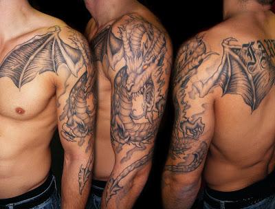 Tatuaje Dragón con alas