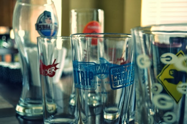 Assorted glasses