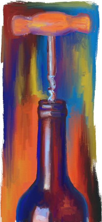 Cuadro de botella de vino