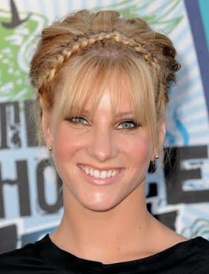 Heather Morris updo Braided Hairstyle
