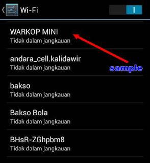 wifi setting