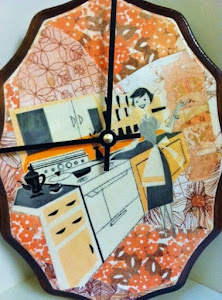 Vintage Kitschen Collage Clock