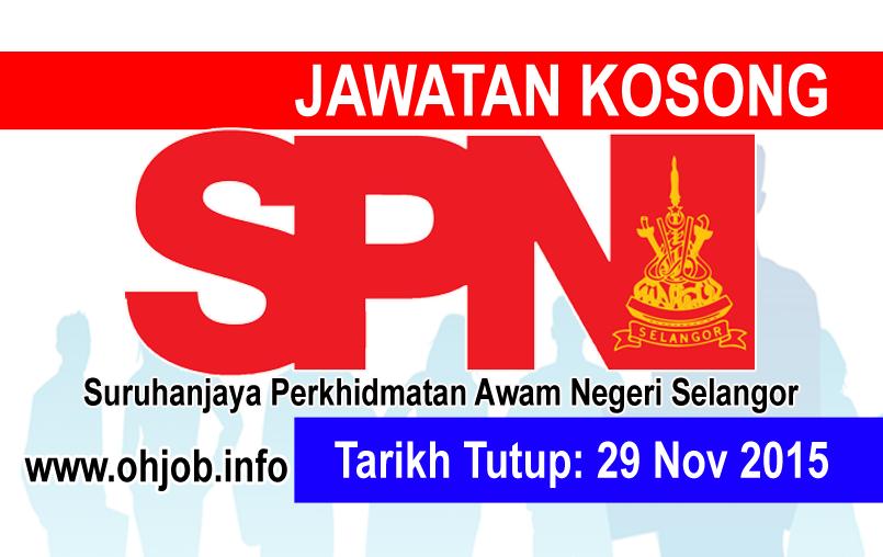 Jawatan Kerja Kosong Suruhanjaya Perkhidmatan Awam Negeri Selangor logo www.ohjob.info november 2015