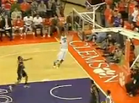 Clemson's Devin Booker slams alley-oop from inbounds pass