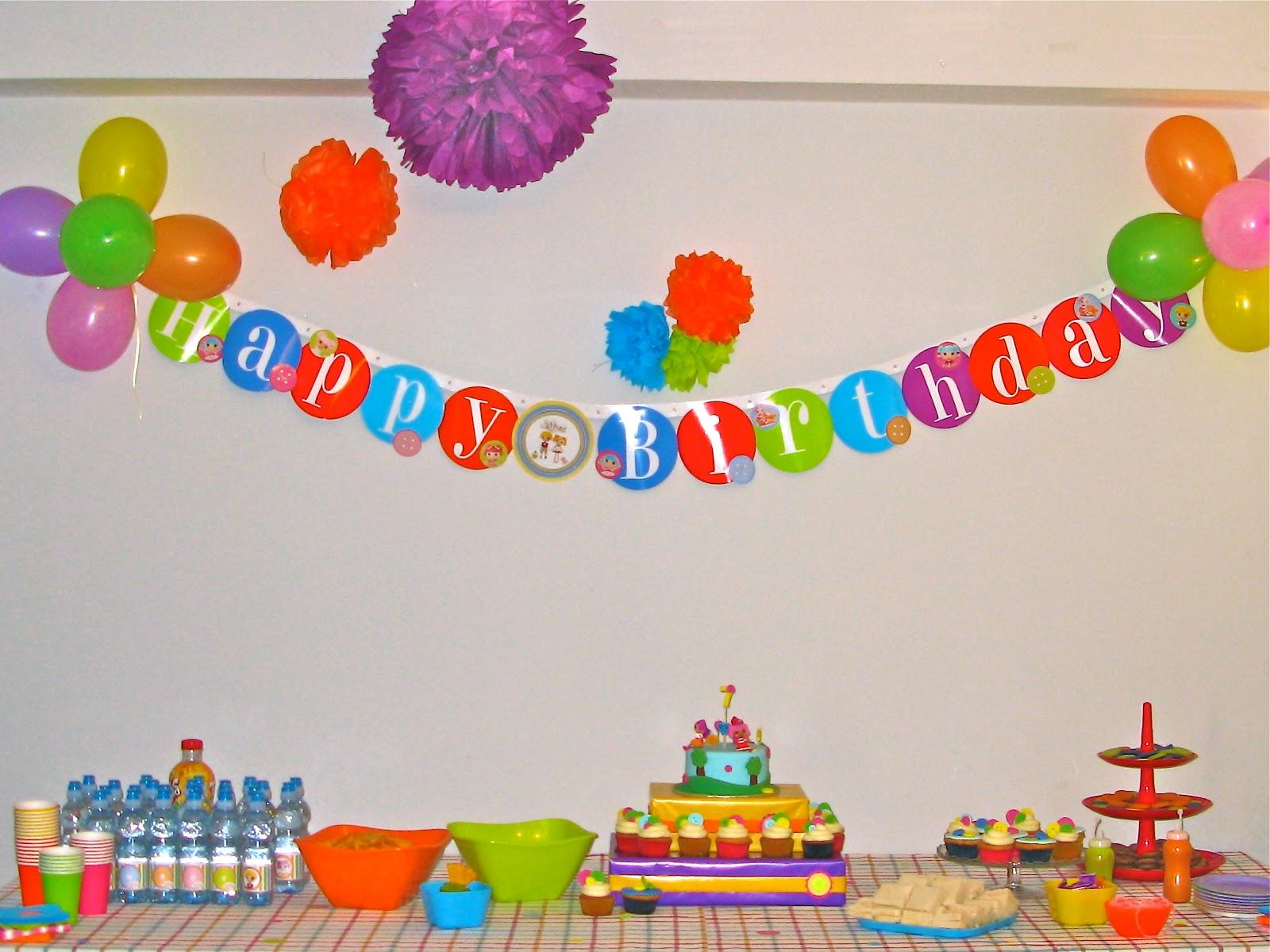 La desserterie y asi salio la fiesta de lalaloopsy - Decorar para un cumpleanos ...