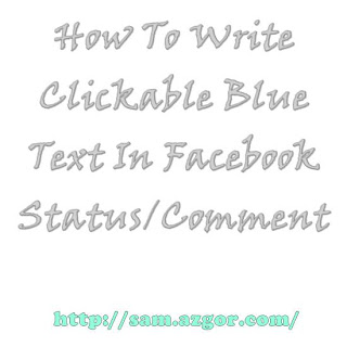 Write linkable Blue In Facebook