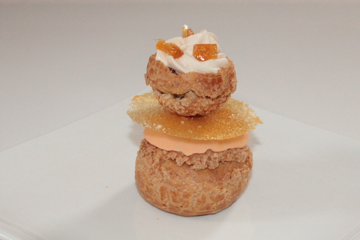 caramel, Christophe MICHALAK, desserts individuels, Philippe CONTICINI, religieuse,