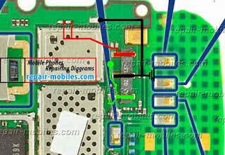 Nokia Asha 311 Battery Connector Problem Solution    Nokia Asha 311 Battery Connector Problem Solution. Chack This Red mark Line. Make This Jummper use  Copper coil. This is nokia asha 311 Battery Connector Problem Solution....