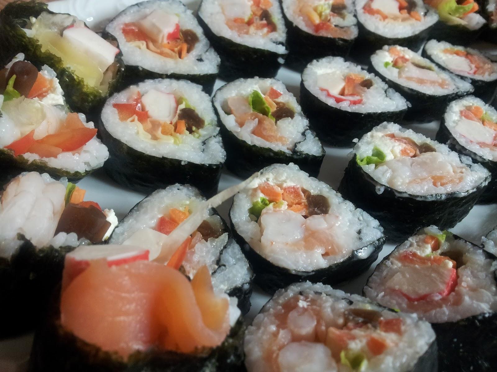 podanie sushi