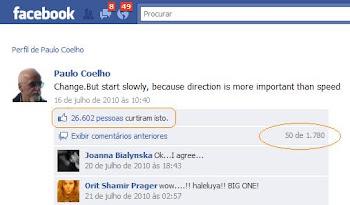 Change no Facebook de Paulo Coelho