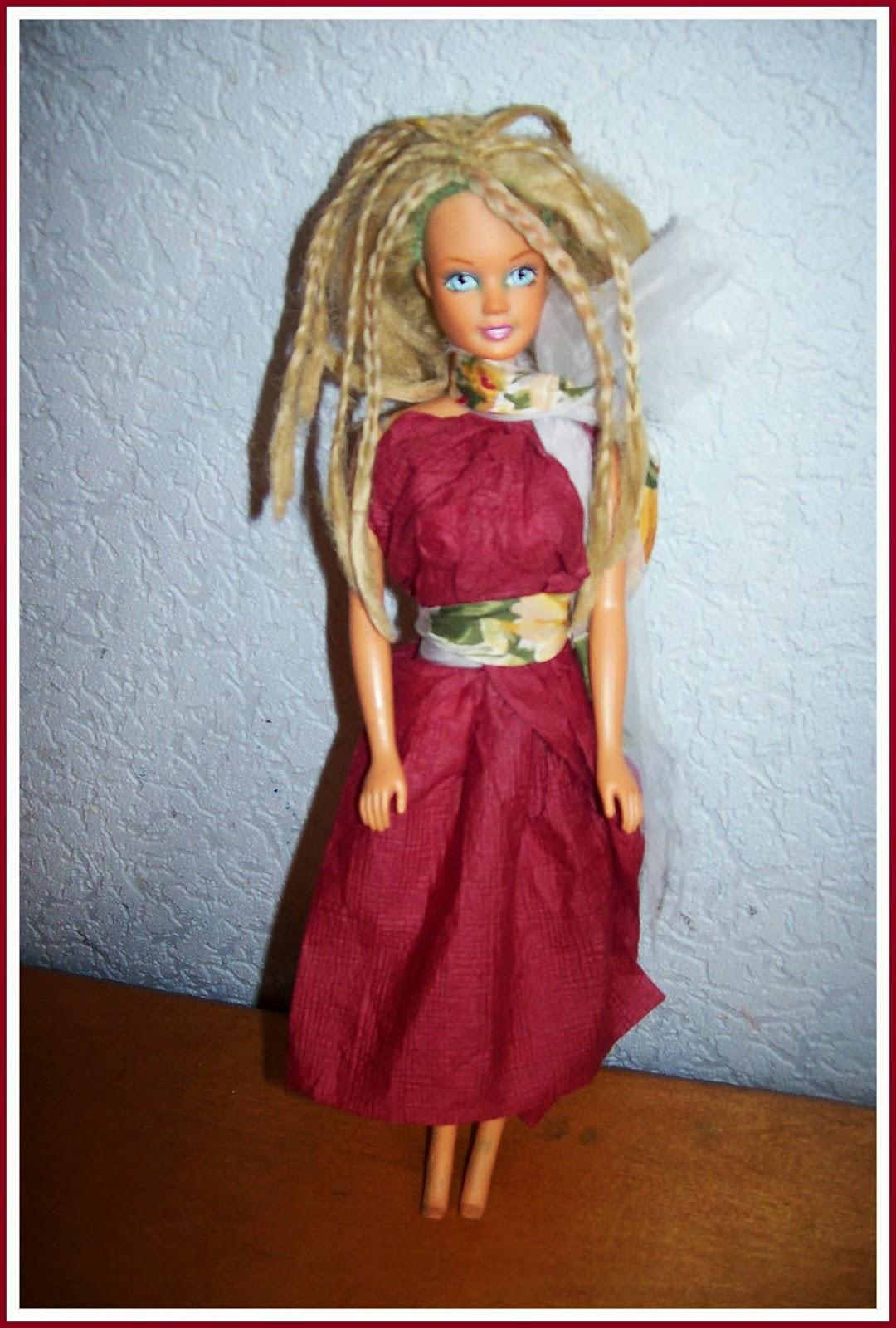 Сделать своими руками платья из ткани кукле 394