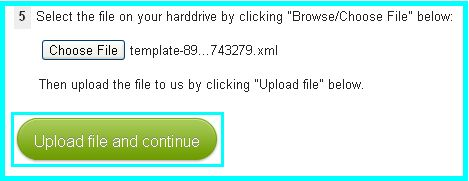 13 click on upload file and continue