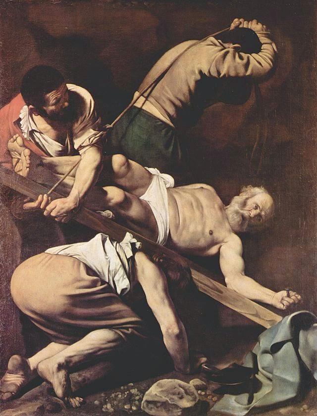 La Crucifixión de Pedro de Caravaggio de Italia