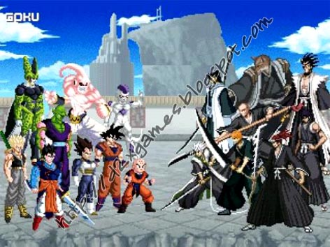 Free Download Games - Dragon Ball Z vs Bleach MUGEN