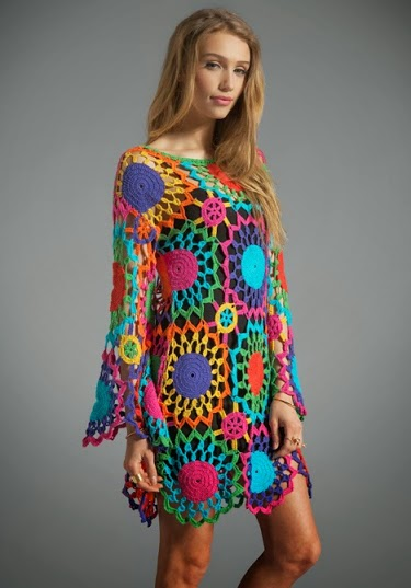 dantelli giyimler,örgü,tığ örgüleri,tığ örgü ceket,tığ bluz,tığ elbise,tığ örgü giyim,renkli tığ elbise