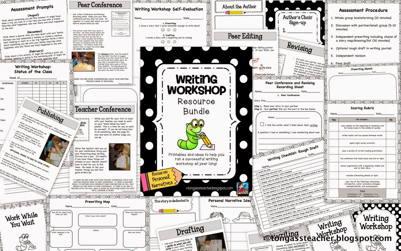 http://www.teacherspayteachers.com/Product/Writing-Workshop-Resource-Bundle-719383