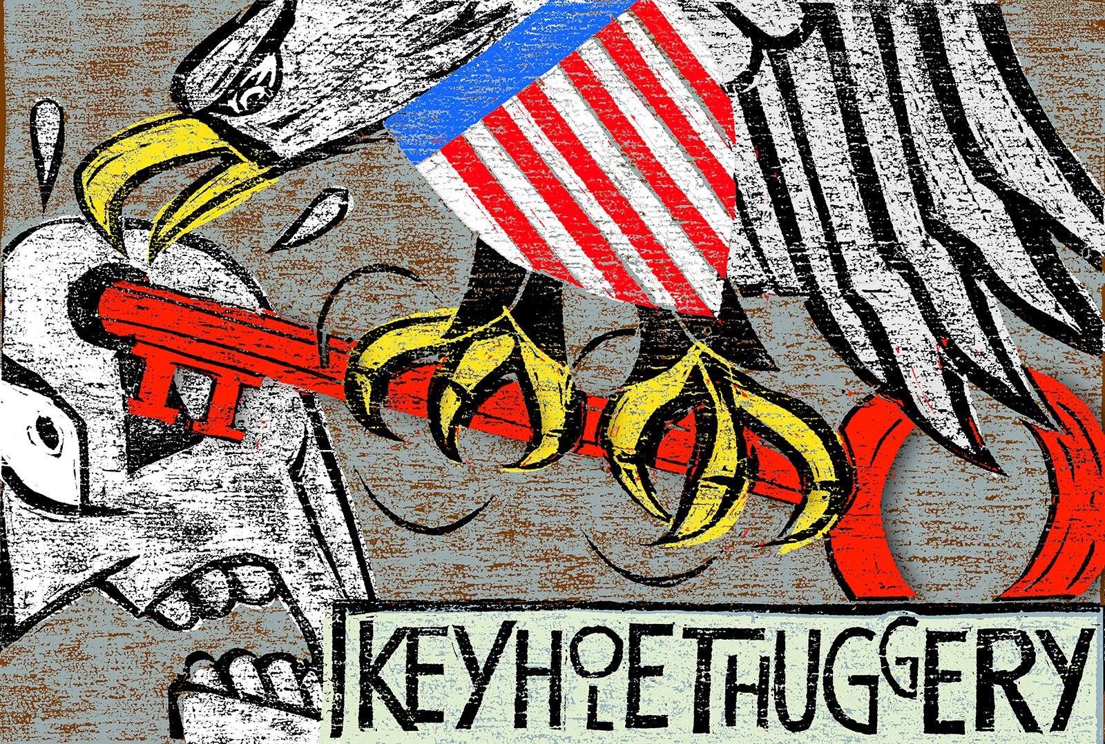 Daniel Pudles: Keyhole Thuggery.