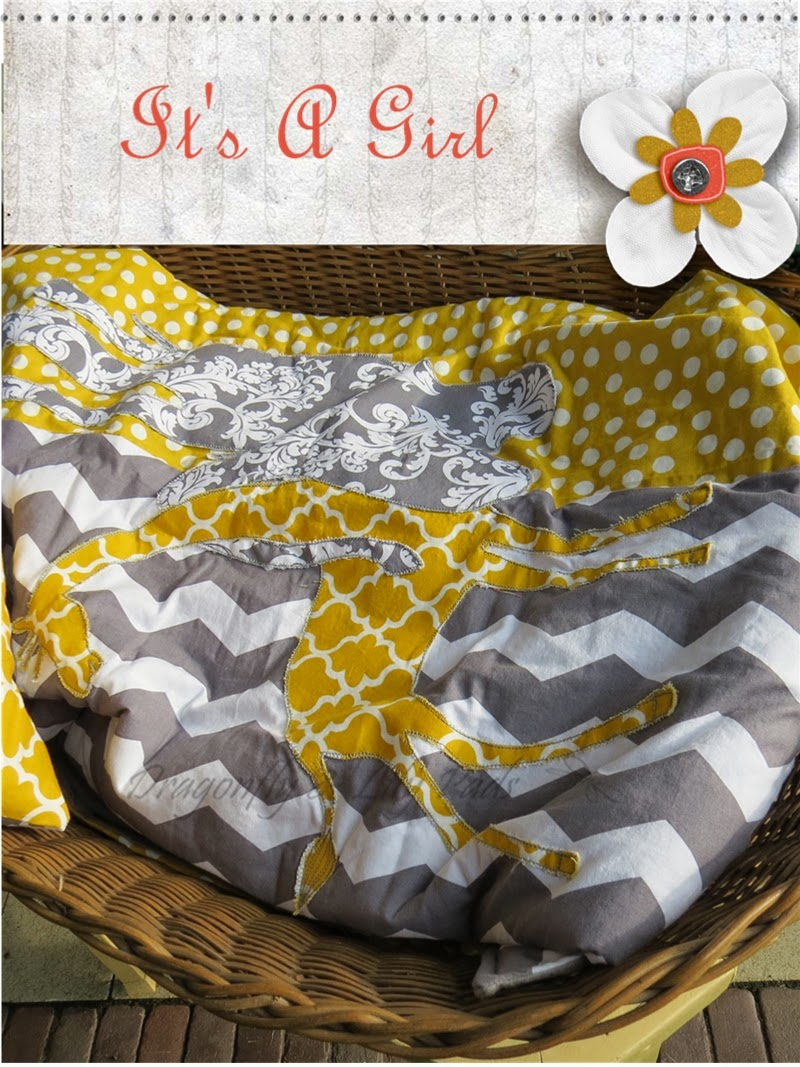 Antique Baby Basket Net, Quilt, Yellow, White, Gray, Polka dot, Trellis, Chevron, Swirl, Giraffe, Elephant, It;s a girl