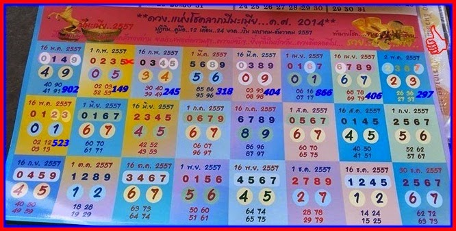 Thai Lotto VIP Tips | Thai lotto Full Year Touch 01-06-2014
