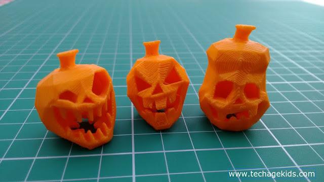 3D printed mini pumpkins