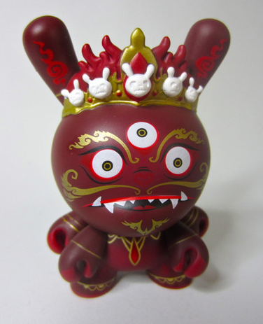 Kidrobot Dunny Series 2012 - Red Chase Mahākāla 3 Inch Dunny by Andrew Bell