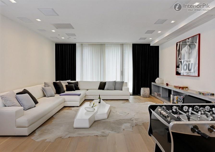 Impulso feminino inspira o sala de estar preto e branco for Living room ideas quiz