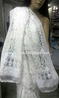 Heavy Net chikan Saree