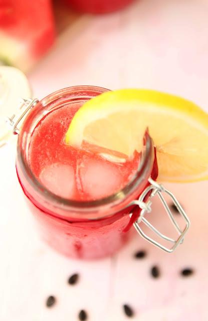 Iced watermelon cocktail