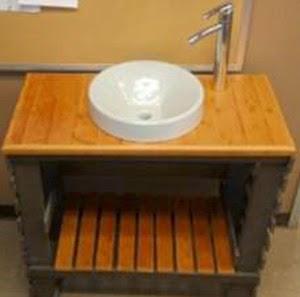 Fant stico lavamanos para el ba o - Como hacer un mueble para el lavabo ...